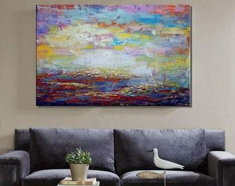 Large Art, Oil Painting, Landscape Painting, Canvas Art, Framed Art, Abstract Art, Abstract Painting, Abstract Wall Art, Abstract Landscape