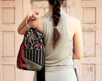 Vintage Embroidered Handbag Boho Hipster Tribal Ethnic Shoulder Bags,Tribal Handbags,body bag,  embroidered fabric bag, Ethnic Shoulder bag,