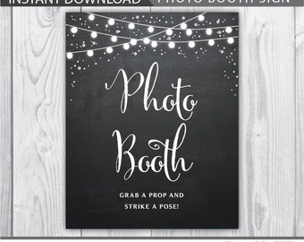 photo booth sign / photo booth sign printable / grab a prop and strike a pose sign / wedding sign printable / wedding printable / INSTANT