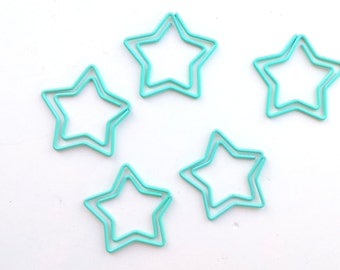 Set of 5 stars paperclips, mint
