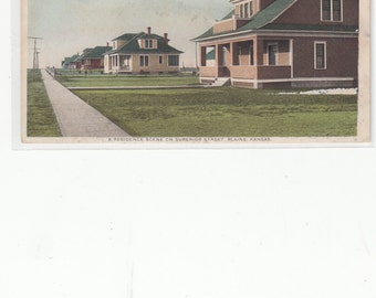 Plains,Kansas Antique Postcard With New Models Of Arts And Crafts Cottages,Homes Advertising On Back