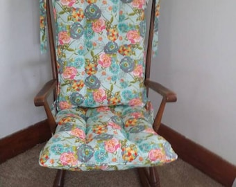 lily belle rocking chair cushions rocking chair pads glider replacement cushions - Wooden Rocking Chair Cushions
