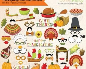 Thanksgiving Photo Booth Prop, Thanksgiving Party Photo Booth Prop, Harvest Photo Booth Prop Party, Pumpkin, Turkey, Native American