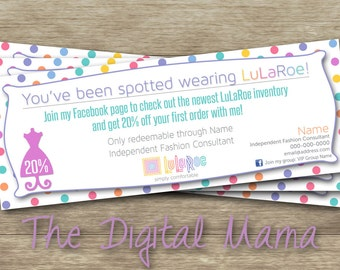 LuLaRoe Coupon - You've Been Spotted Coupon - LuLaRoe Consulant Coupon - LuLaRoe Business - LuLaRoe Business Card - Digital Download
