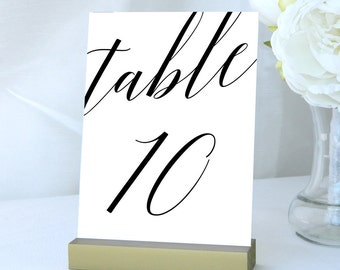 Table Numbers 1-30 Table Cards Calligraphy Wedding Table Number Place Cards Wedding Decor Number Card Decoration Digital Printable TG003