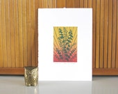 "Woodcut Print ""To Soothe You"" Eucalyptus Yoga Plant Printmaking"