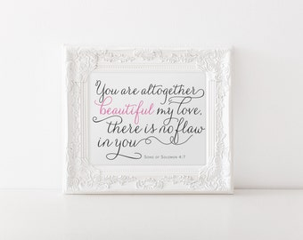 Magnificent Song Of Solomon 4 7 Etsy Largest Home Design Picture Inspirations Pitcheantrous