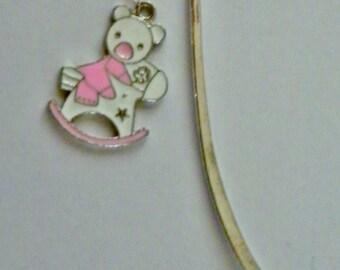 Pink Rocking Horse Bookmark ~Baby Girl