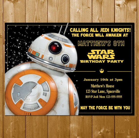 Personalized Star Wars Invitations are Luxury Sample To Create Best Invitation Layout