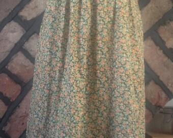 Vintage, 1970s, floral ditsy print, Sun dress size 10-12 (uk)