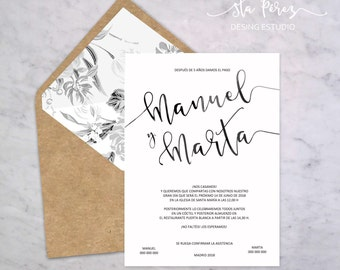 lettering wedding invitatión