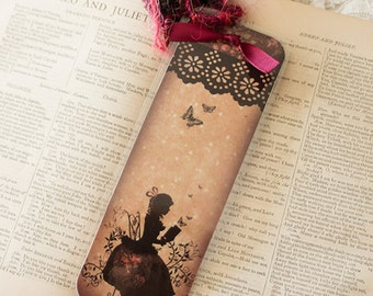 Bookmark - bookmark with fibers - book - Miss Shadow - Sunday afternoon