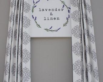Embroidered Medallion Curtains, Custom made