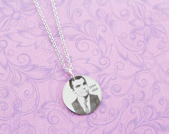 Photo Pendant - Picture Jewelry - Loss of Loved One - Remembrance - Memorial Jewelry - Engraved Jewelry - Engraved Necklace