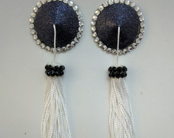 Black / Pink Pasties with Tassels