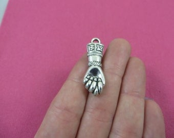 Good Luck Fist Charms Antique Silver Tone 2196-K10176 Amulet charms Fist charms 2