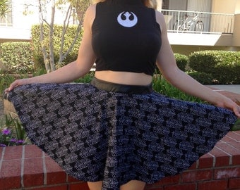 Star Wars Skirt, Size M Skirt, Medium Sized Skirt, Rebel Skirt, Force Awakens Skirt, Star Wars Circle Skirt, Jedi Skirt