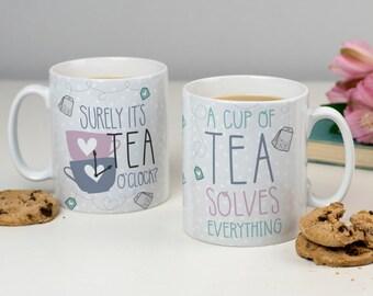 Tea Lover Mug - Tea Solves Everything