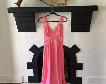 Vintage Pink Nightgown Slip S/XS