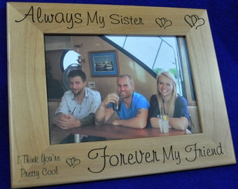 Christmas Gift For Sister ~ Picture Frame ~ Birthday Gift For Sister ~ Sister Picture Frame ~ Custom Picture Frame ~ To Sister From Brother