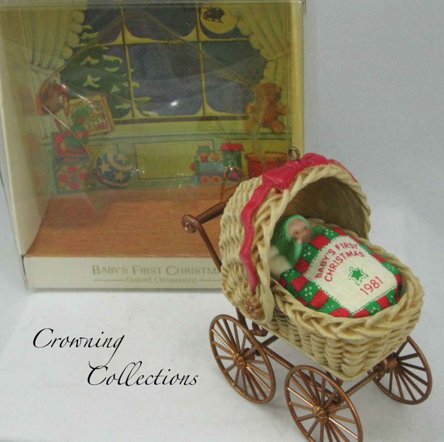 1981 Hallmark Baby's First Christmas Ornament Carriage