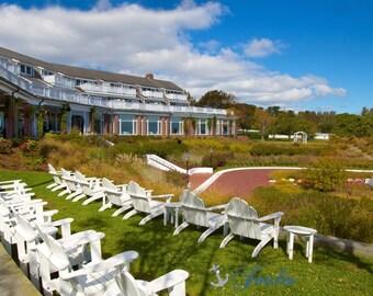 Chatham Bars Inn ~ Autumn, Photograph, Chatham, MA, Cape Cod, Nautical Photos, Coastal, New England, Home Decor, Fall Foliage, Earth Tones