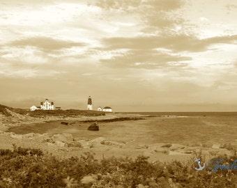 Vintage Point Judith Lighthouse ~ Narragansett, Rhode Island, Lighthouses, Photograph, Nautical, Ocean, Seaside, Coastal Decor, Artwork