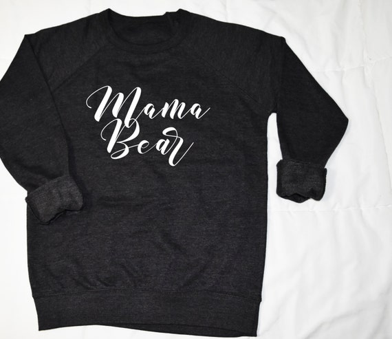 mama bear black graphic sweater
