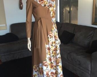 Vintage 1950's maxi dress