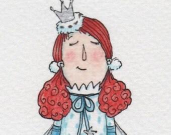 Fairy in blue spotty dress