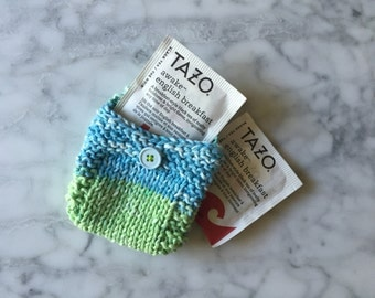 Hand-Knit Pouch for Tea or Trinkets