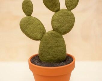 Large Felt Cactus