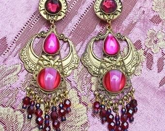 Fabulous JL Blin Opulent Vintage Chandelier Earrings from Paris, France