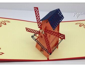 3D Pop Up Dutch Windmill Card