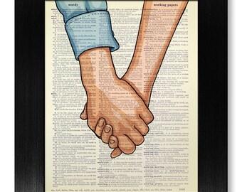 Love Couple Art, LOVE Wall Art, Couple Print, COUPLE Gift for Boyfriend Gift, Love Sign Love Poster, GIRLFRIEND Gift for Girlfriend Wall Art