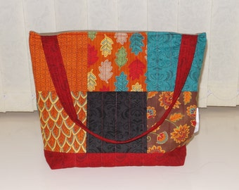 Handmade Quilted Small Tote Bag