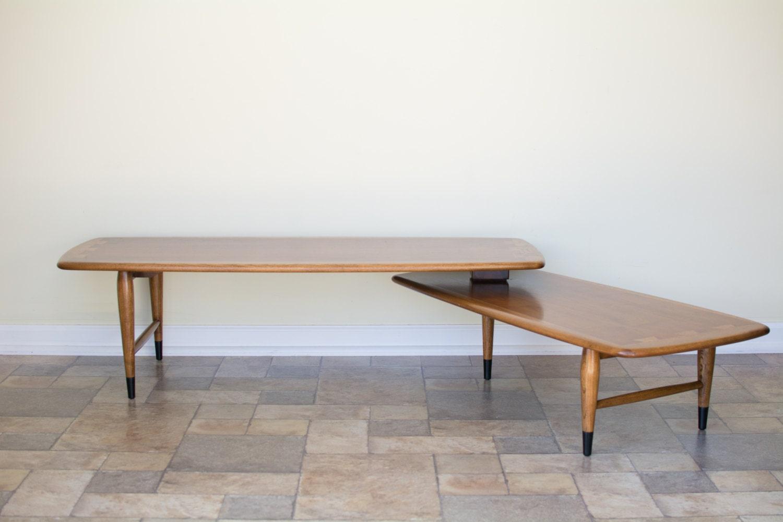 lane acclaim boomerang swivel coffee table mid century