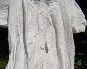 "Authentic Victorian ""Combination"" Short Sleeved Undergarment"