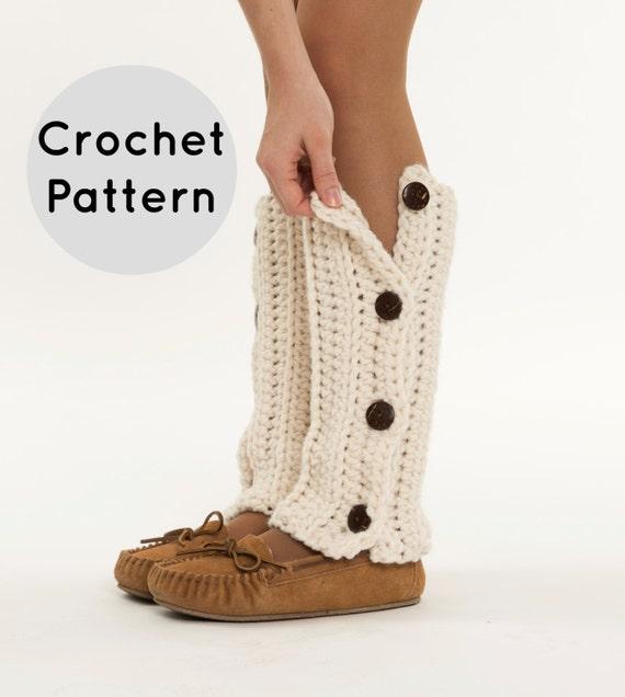 CROCHET PATTERN Chunky Button Up Crochet Leg Warmer Pattern