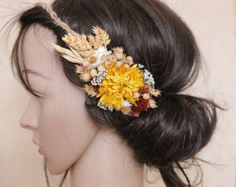 Dried flower hair wreath