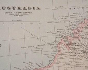1919 Australia Antique Map