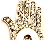Hamsa Snap Jewelry- Hand ...