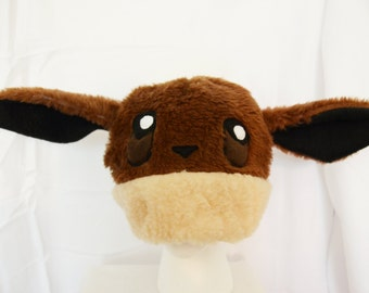 Pokemon Eevee Hat Furry Plush Cosplay Costume