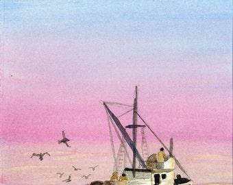 Shrimp Boat, Trawler, Fishing, Deep Sea Fishing Boat, fish Boat, shrimper