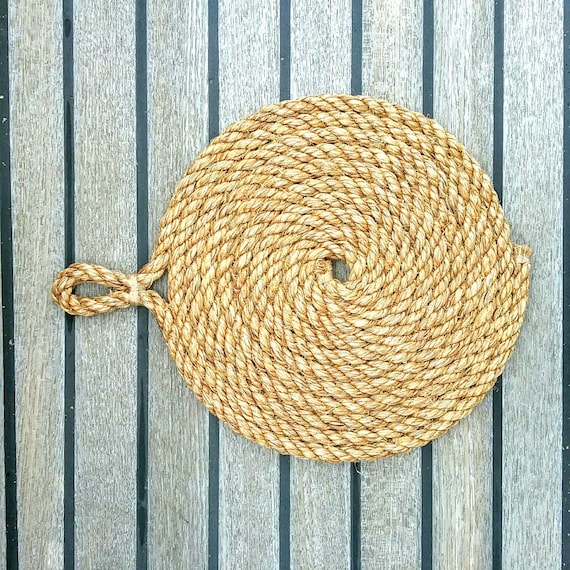 Rustic Rope Trivet Table Mat Centrepiece Kitchen By