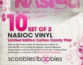 NASIOC - Pair of Breast Cancer Awareness Vinyl