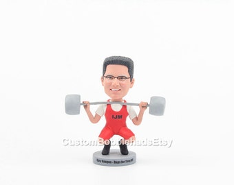 Custom weightlifting men bobblehead, valentines gift ideas, valentines gift for boyfriend, valentines gift for him, custom valentines gifts