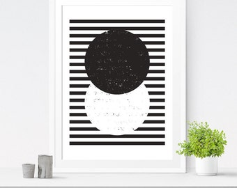 Circle print, Minimalist print, Nordic posters, Wall art Abstract, Wall art printable, Digital download, Modern print, Geometric art print