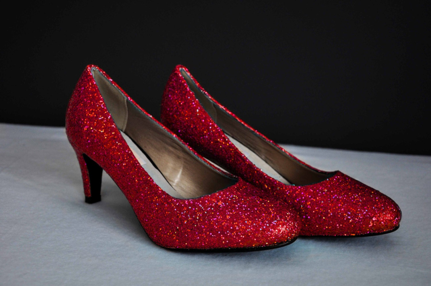 Red Wedding Shoes Super Sparkly Red Glitter Shoes Wedding