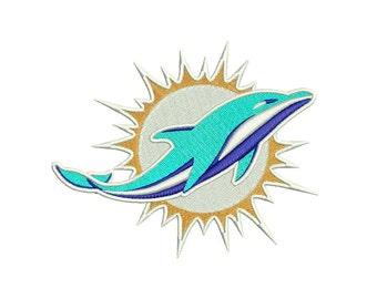 Miami Dolphins Logo Embroidery Design